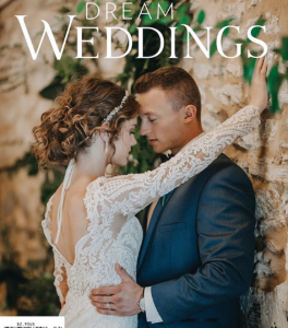 Barbizon PA alum Margo Kessler & Nick Lombardi booked the cover of Dream Weddings Fall issue