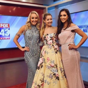 Barbizon PA alum Rory Noble modeled for Renaissance Bridals and Prom on WPMT FOX43