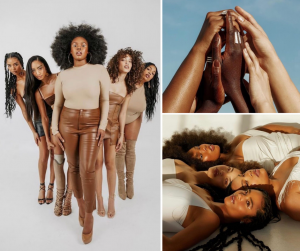 Collage of the social media campaign featuring Candace and other black women models