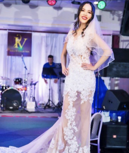 Barbizon PA grad Kitty Bedard walked the runway for fashion designer Kelly Kieu Nhu