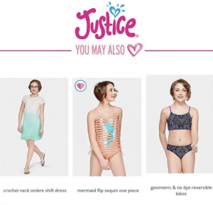 Barbizon PA grad Olyvia B. modeled beachwear for Justice