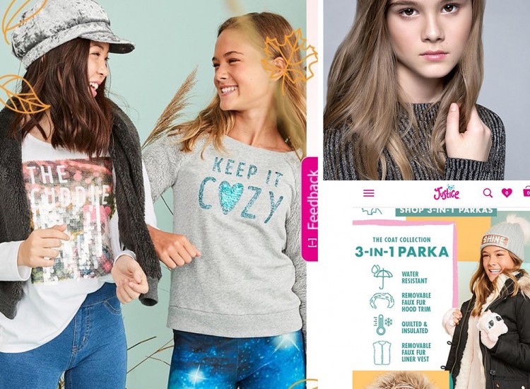 Barbizon PA grad Sadie Kosoff booked a Justice Fall Fashion ad campaign