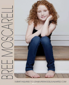 Barbizon PA graduate Brianna Moscarell is the National American Miss Junior Pre-Teen Cover Girl and was featured in Supermodels Unlimited Magazine's bi yearly publication of their Model's Guide