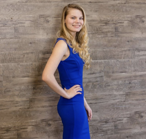 Barbizon PA model Anya Spitsyna modeled prom dresses for Hello Gorgeous CG