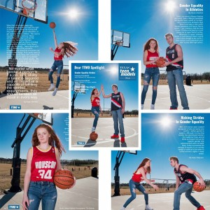 Barbizon PA model Haven Habhab booked an editorial photo shoot in Texas Teen Models Official Magazine
