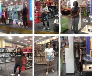 Barbizon PA models booked a promotional modeling job for Sunglass Hut and Shoe Carnival at the Park City Mall