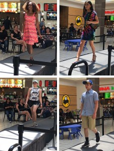 Barbizon PA models walked the runway at a local fashion show in Colonial Park Mall in Harrisburg