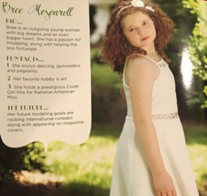 Barbizon Pittsburgh grad Brianna Moscarell was featured in Supermodels Unlimited Magazine 17th Anniversary issue