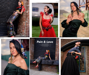 colllage of Savana's editorial feature modeling in different outfits and poses