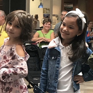 Barbizon Red Bank kid models walked in the Back to School Bash at Ocean County Mall with Macaroni Kids Toms River