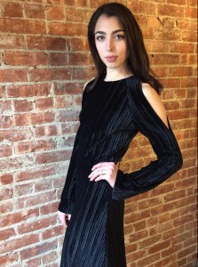 Barbizon Red Bank model Alexis showed at a Trunk Show at Theo for USE unused & Lili Radu