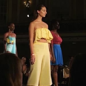 Barbizon Red Bank model Christine walked in New York Fashion Week