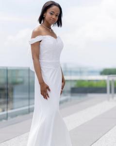 Barbizon Red Bank model Nija Imani booked a photo shoot for bridal designer Adrienn Braun