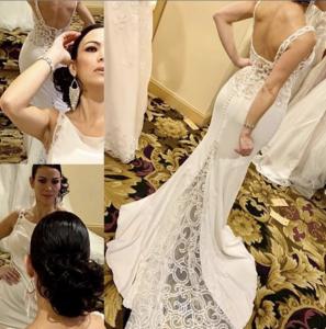Barbizon Red Bank model Yusby booked a bridal modeling job wearing David's Bridal