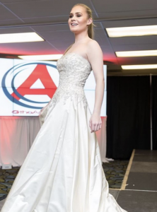 Barbizon Red Bank model showed for designer Adrienn Braun at a Bridal Expo
