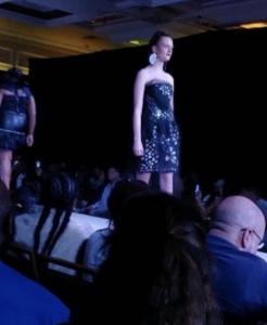 Barbizon Red Bank model walked for designer Angelo Davila in Atlantic City Fashion Week