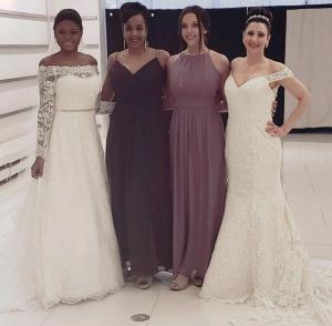 Barbizon Red Bank models booked a bridal modeling job wearing David's Bridal
