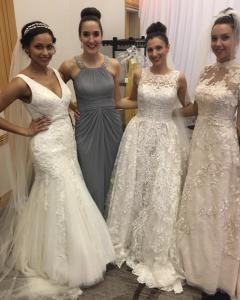Barbizon Red Bank models booked a bridal show in Princeton, NJ