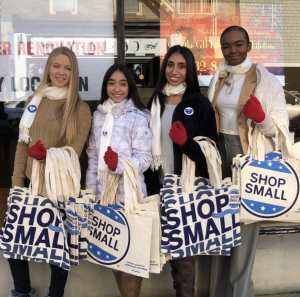 Barbizon Red Bank models volunteered for Small Business Saturday