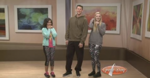 Barbizon ST. Louis models Saraha, Chris and Kaitlyn modeled athleisure wear from JCPenney on Great Day St. Louis