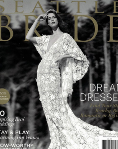 Barbizon Seattle graduate Michelle booked the cover of Seattle Bride