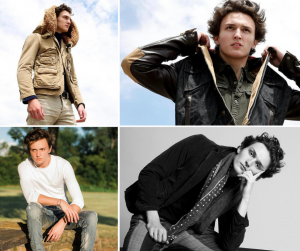 collage of Darien modeling in different poses