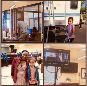 collage of Vivian on set for her short film booking