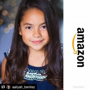 Barbizon Socal alum Aaliyah Benitez booked an Amazon commercial