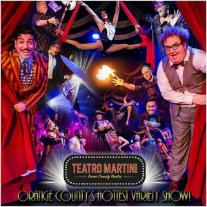 Barbizon Socal alum Alexander Makardish plays Rob in Teatro Martini - A Caberet-Style Show in Buena Park, CA