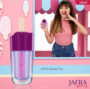 Barbizon Socal alum Ashlynn Ramirez is featured in a campaign for JAFRA Sweetie Pop