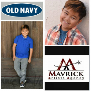 Barbizon Socal alum Gabriel Angelo Lajato booked a national commercial for Old Navy