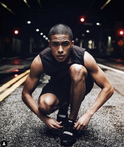 Barbizon Socal alum Tevin Callender modeled for PUMA Sportswear