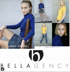 Barbizon Socal grad Aubrey Sumner signed with Bella Agency - Los Angeles for commercial and fashion print