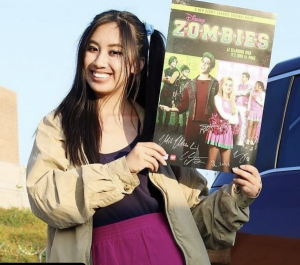 Barbizon Socal grad Dawn Morante was on the Disney Channel for the Disney Zombies Halloween Cast Party