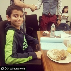 Barbizon Socal grad George Wahba was on set for a table read for an upcoming major network show