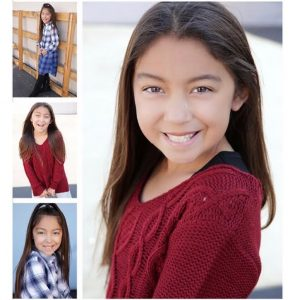 collage of head shot and body shots of Saige Bautista