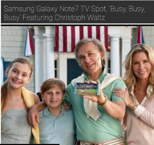 Barbizon Socal grad Jena Allen can be seen in a new commercial for Samsung Galaxy Note 7