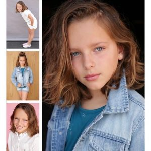 collage of head shots and body shots of Josephine Ryan