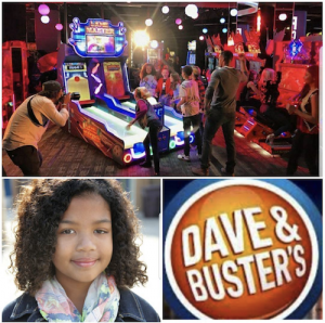 Barbizon Socal grad Lelana McWilliams booked a commercial for Dave & Busters