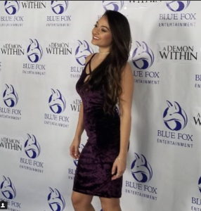 Barbizon Socal grad, Patricia Ashley walked the red carpet at the premiere of her new movie A Demon Within