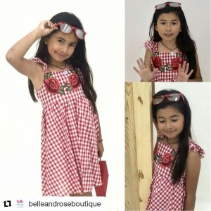 Barbizon Socal grad Victoria Rosales modeled for Belle and Rose Boutique