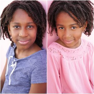 Headshot of side-by-side twins