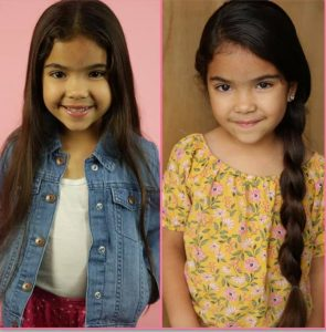 side by side head shots of Genesis Parra