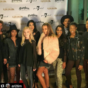 Barbizon Socal models Amiyah, Sunshine, Tamara, Kate, Angelina, Zoe, Cole, Jesse and Jocquoez walked in a fashion show at the Lincoln Experience Center showing for 7 for all Mankind