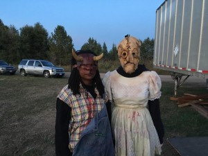 "Barbizon Southwest actors Reyanna Clarke and Kimber Scifres we're hired to be ""scare actors"" at DeadZone"