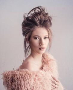 Barbizon Southwest alum Ellie Craine modeled for Sahair Salon and Volant Magazine