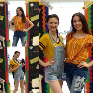 Barbizon Southwest alumni Alexis and Alyssa Miller walked in the Dillard's Back to School Fashion Show