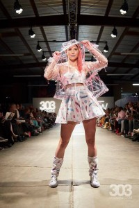Barbizon Southwest alumni Estrella Vallejos, Rachel Hawley, Aliza Tinker, Ellie Craine and Allison Conard walked for Electric Bubblegum in Denver Fashion Week2