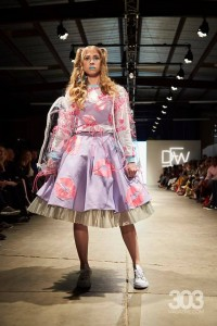 Barbizon Southwest alumni Estrella Vallejos, Rachel Hawley, Aliza Tinker, Ellie Craine and Allison Conard walked for Electric Bubblegum in Denver Fashion Week4