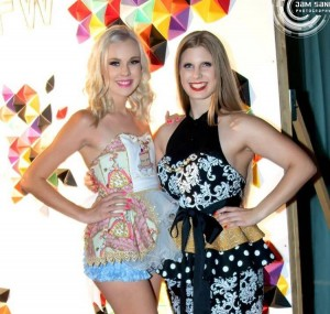 Barbizon Southwest alumni Kayla B. and Kennedy F. modeled Couture Aprons at Phoenix Fashion Week